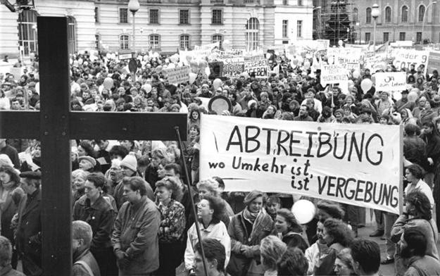 """Berlin, Buß- und Bettag, Marsch """"Schutz des ungeborenen Lebens"""""""