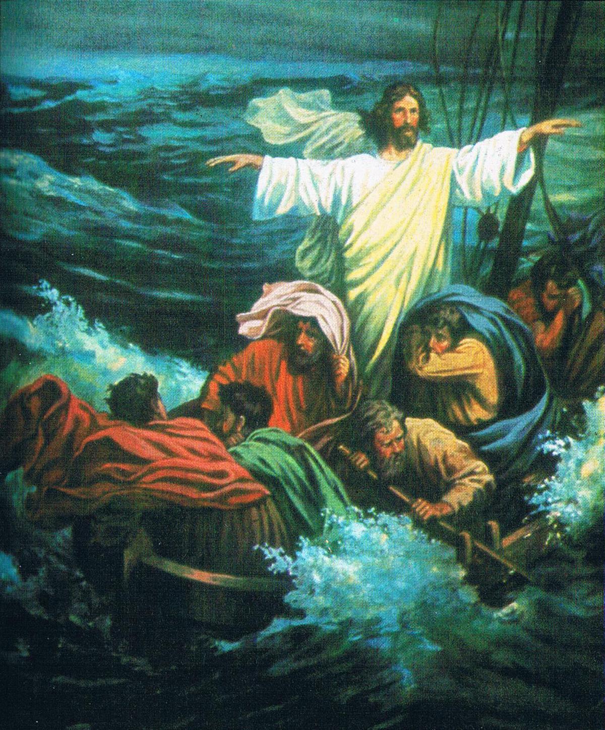 Ziemlich Jesus Beruhigt Den Sturm Malvorlagen Zeitgenössisch ...